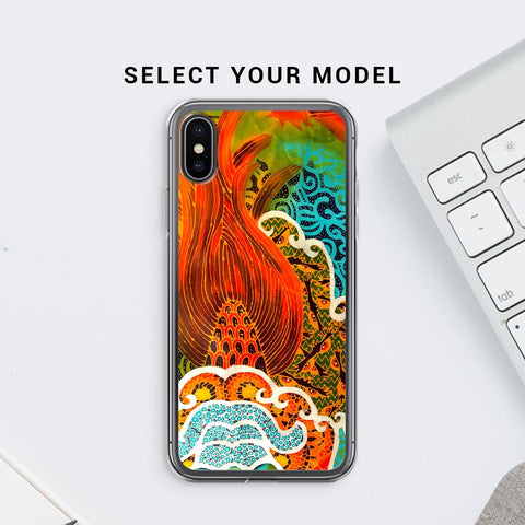 Colorful Batik Art Soft Phone Cover