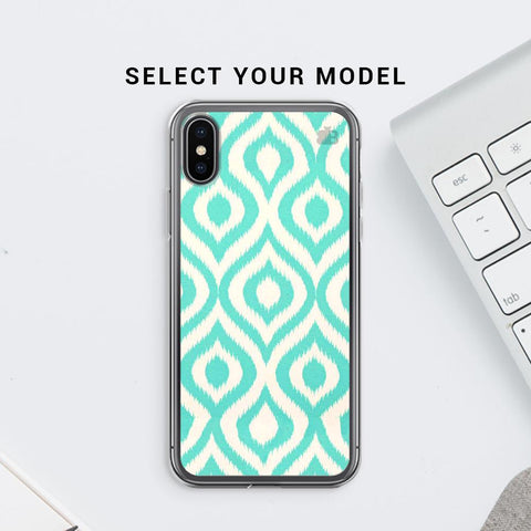 Cyan Ikat Soft Phone Cover