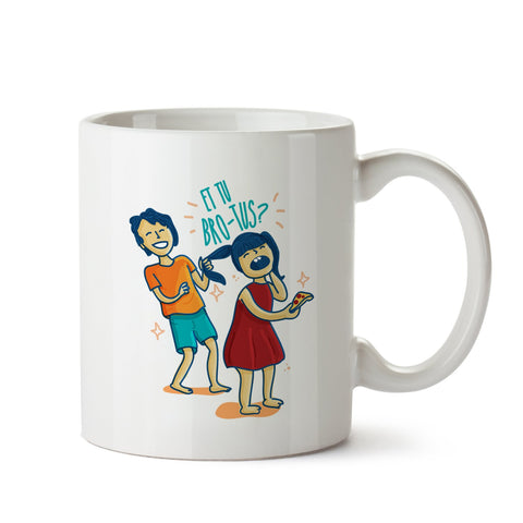 Et Tu Brotus White Coffee Mug
