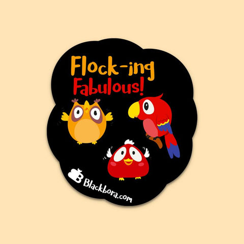 Flocking Fab Sticker