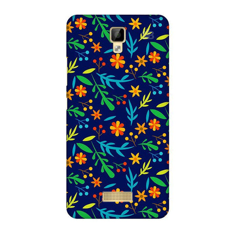 Vibrant Floral Pattern Gionee P7 Phone Cover