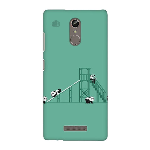 Pandas Playing Gionee S6S Phone Cover