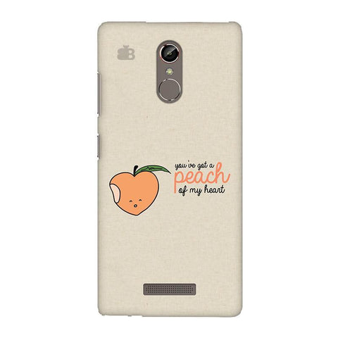 Peach of my heart Gionee S6S Phone Cover