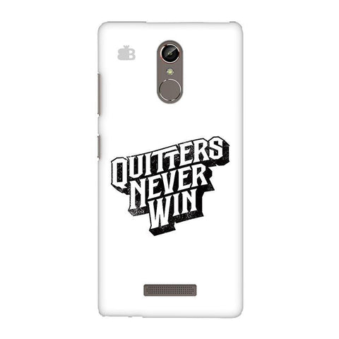 Quitters Never Win Gionee S6S Phone Cover