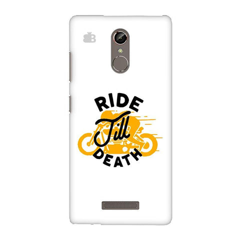 Ride Till Death Gionee S6S Phone Cover