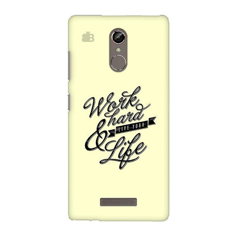 Work Hard Gionee S6S Phone Cover