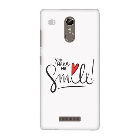 You make me Smile Gionee S6S Phone Cover