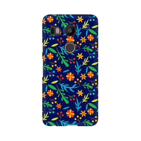 Vibrant Floral Pattern Google Nexus 5X Phone Cover