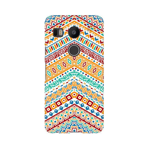 Wavy Ethnic Art Google Nexus 5X Phone Cover