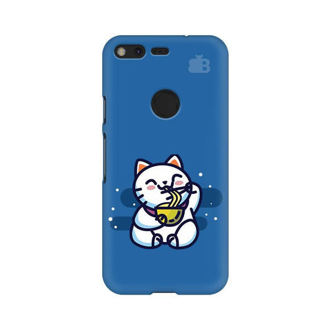 KItty eating Noodles Google Pixel XL Phone Cover