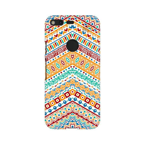 Wavy Ethnic Art Google Pixel XL Phone Cover