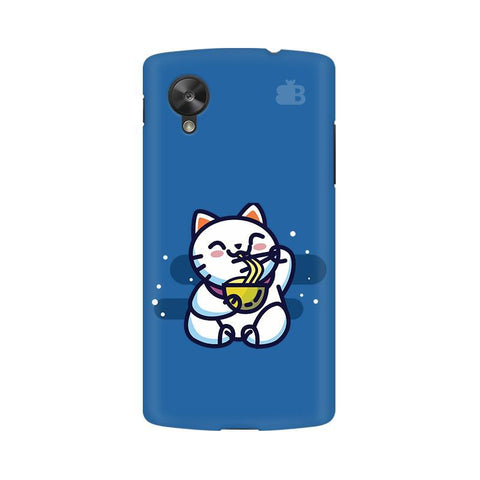 KItty eating Noodles Google  Nexus 5 Phone Cover