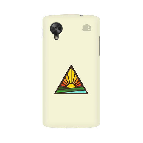 Triangular Sun Google  Nexus 5 Phone Cover