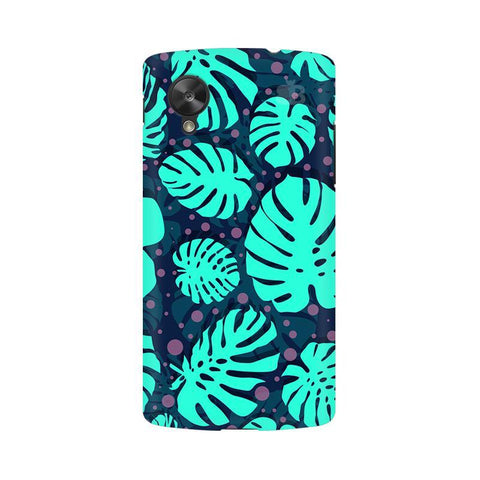 Tropical Leaves Pattern Google  Nexus 5 Phone Cover