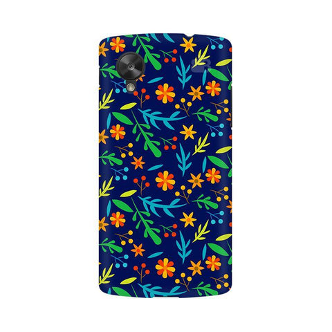 Vibrant Floral Pattern Google  Nexus 5 Phone Cover