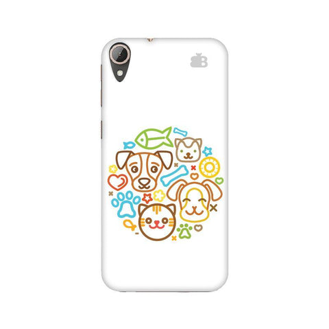 Cute Pets HTC 830 Phone Cover