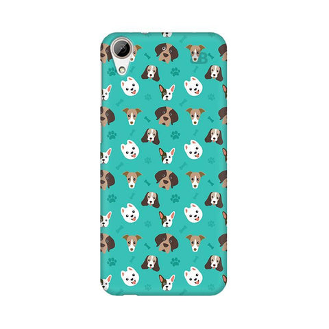 Doggie Pattern HTC Desire 626 Phone Cover