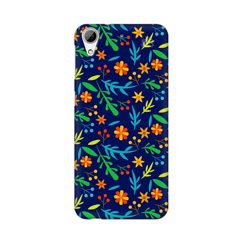 Vibrant Floral Pattern HTC Desire 626 Phone Cover