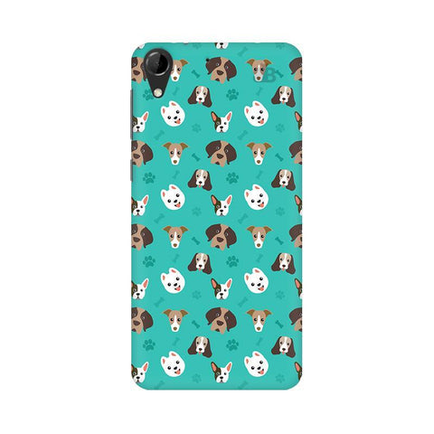 Doggie Pattern HTC Desire 728 Phone Cover