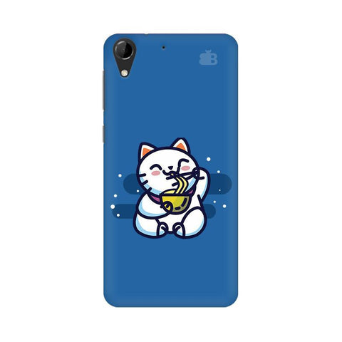 KItty eating Noodles HTC Desire 728 Phone Cover