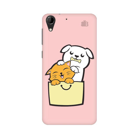 Kitty Puppy Buddies HTC Desire 728 Phone Cover