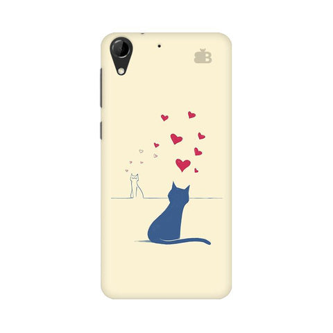 Kitty in Love HTC Desire 728 Phone Cover