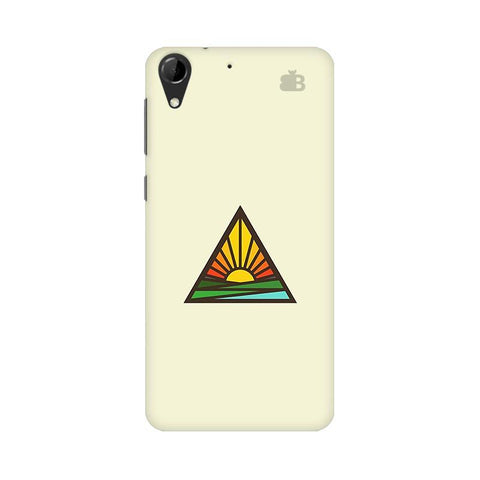 Triangular Sun HTC Desire 728 Phone Cover