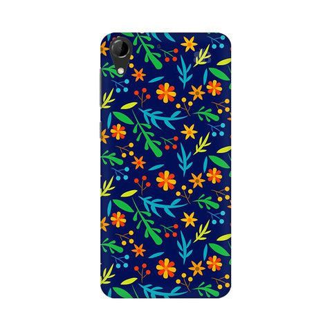 Vibrant Floral Pattern HTC Desire 728 Phone Cover