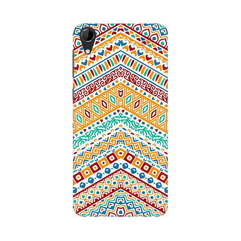 Wavy Ethnic Art HTC Desire 728 Phone Cover
