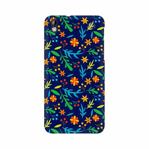 Vibrant Floral Pattern HTC Desire 816 Phone Cover