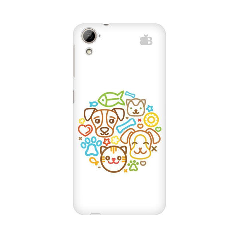 Cute Pets HTC Desire 826 Phone Cover