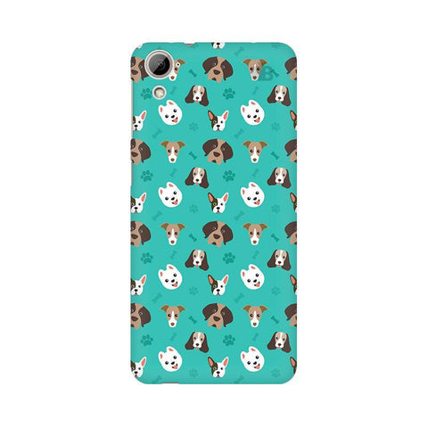 Doggie Pattern HTC Desire 826 Phone Cover