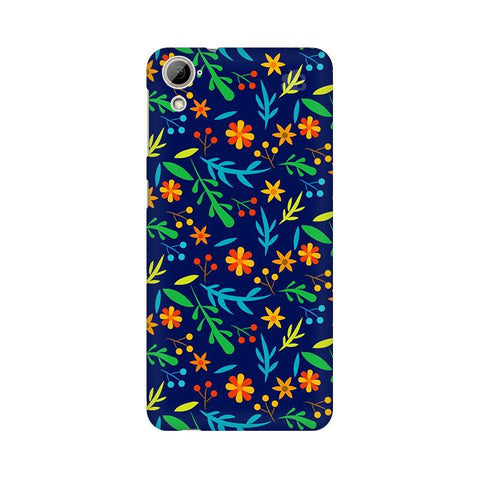Vibrant Floral Pattern HTC Desire 826 Phone Cover