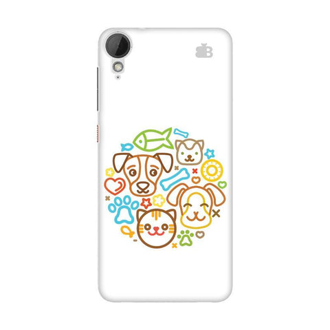 Cute Pets HTC Desire 828 Phone Cover