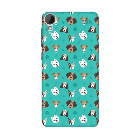 Doggie Pattern HTC Desire 828 Phone Cover