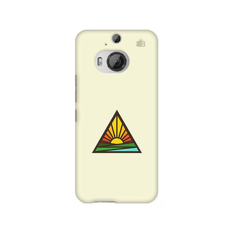 Triangular Sun HTC M9 Plus Phone Cover