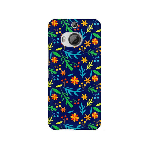 Vibrant Floral Pattern HTC M9 Plus Phone Cover