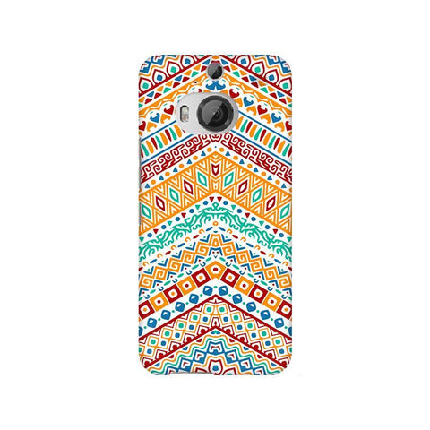 Wavy Ethnic Art HTC M9 Plus Phone Cover
