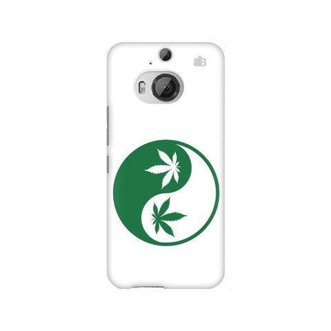 Weed Yin Yang HTC M9 Plus Phone Cover