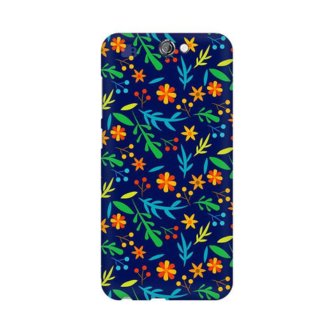 Vibrant Floral Pattern HTC One A9 Phone Cover