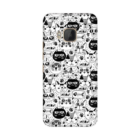 Cute Cats Pattern HTC One M9 Phone Cover