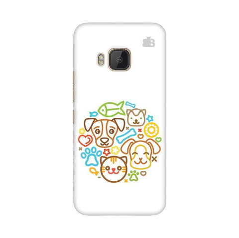 Cute Pets HTC One M9 Phone Cover