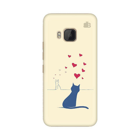 Kitty in Love HTC One M9 Phone Cover