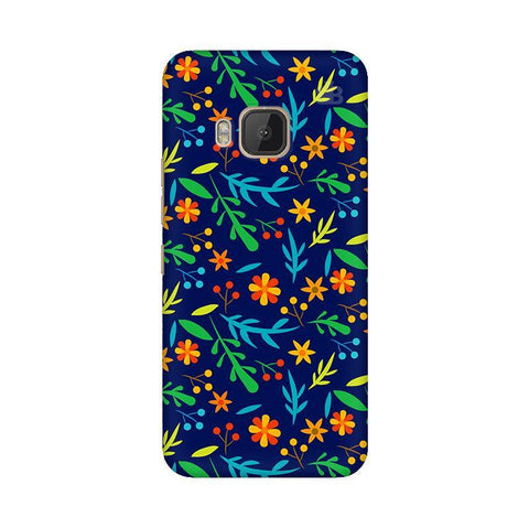 Vibrant Floral Pattern HTC One M9 Phone Cover