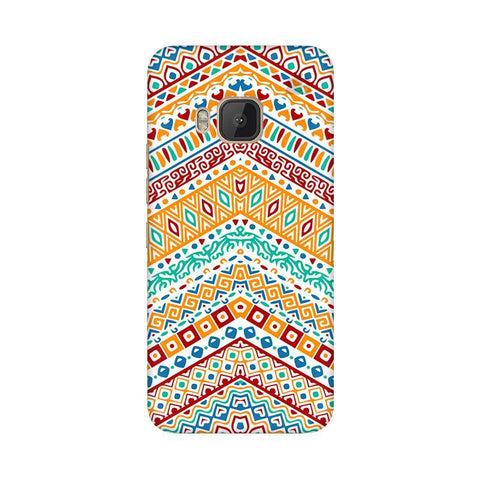 Wavy Ethnic Art HTC One M9 Phone Cover