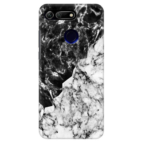 Black White Marble Huawei Honor View 20 Cover