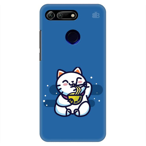 KItty eating Noodles Huawei Honor View 20 Cover