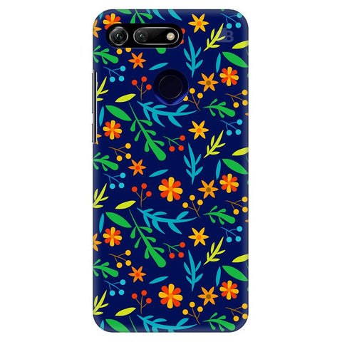 Vibrant Floral Pattern Huawei Honor View 20 Cover