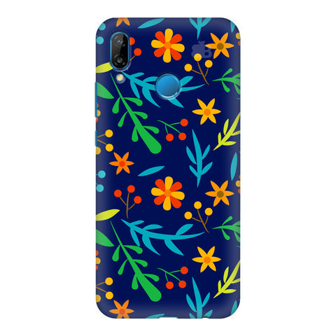 Vibrant Floral Pattern Honor P20 Lite Cover