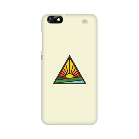 Triangular Sun Huawei Honor 4X Phone Cover